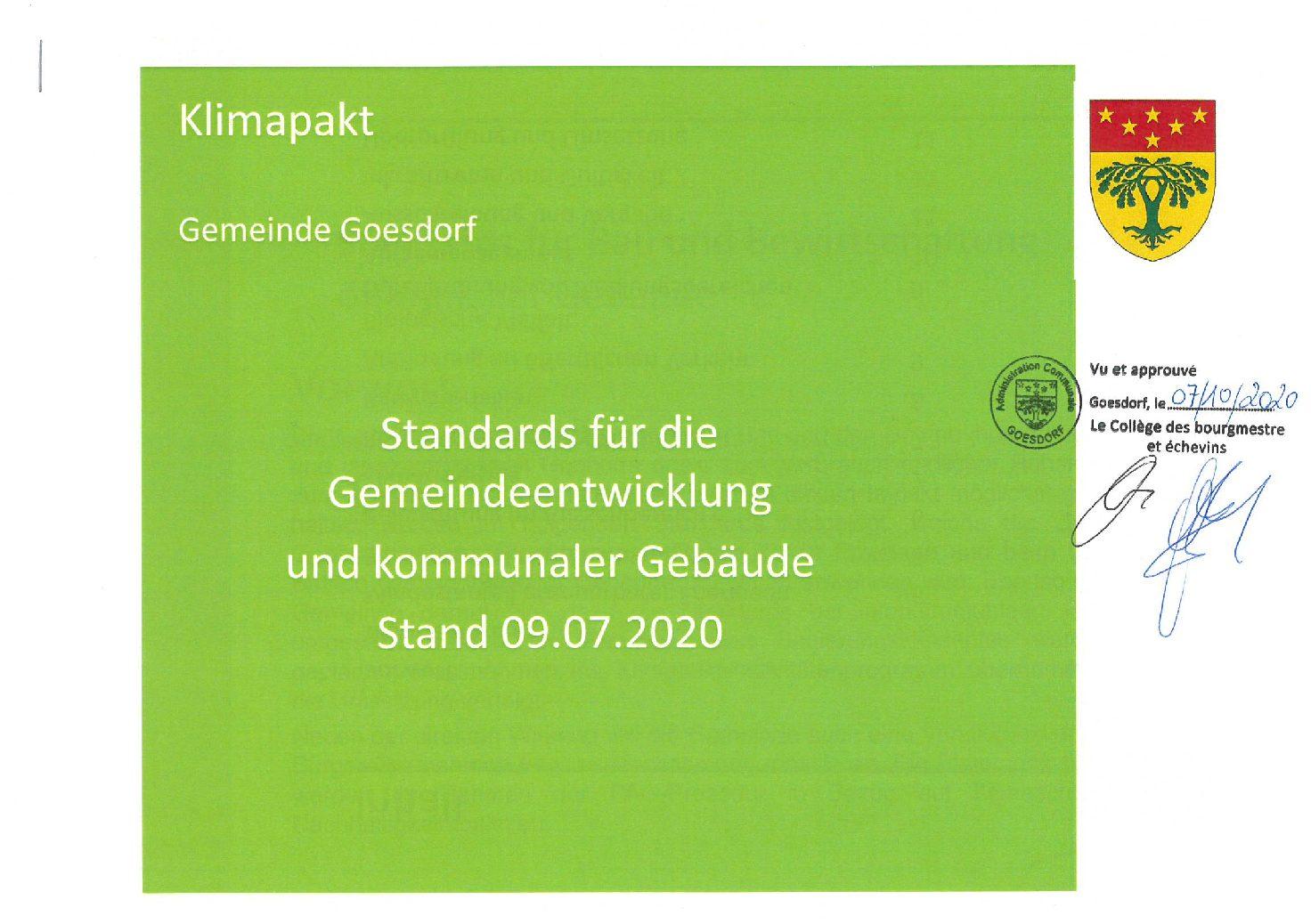 Standards für Gemeindeentwicklung und kommunale Gebäude 2020-07-10