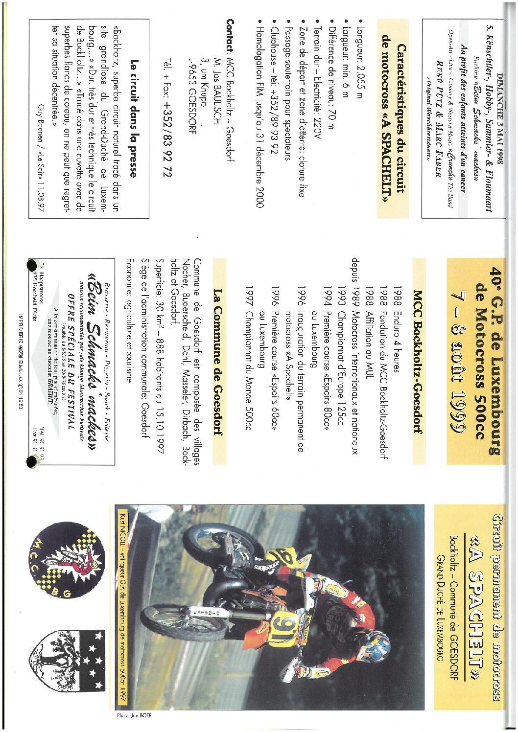 40e GP Luxembourg 1999