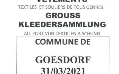 Kleedersammlung / Ramassage de vêtements