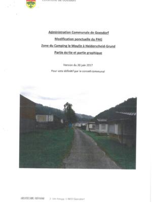 Modification ponctuelle du PAG du 20072017_camping du moulin Heiderscheidergrund_Partie écrite